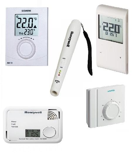 Prostorové termostaty, hlásiče